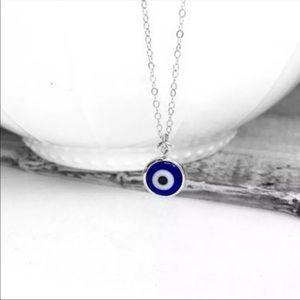 Silver Evil eye necklace 3/$30